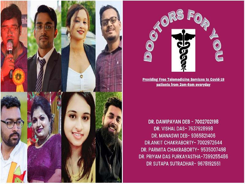 Barak's-'Telemedicine-for-COVID-19'-becomes-'Doctors-For-You'-as-7-doctors-join-Dr.-Dawipayan-Deb