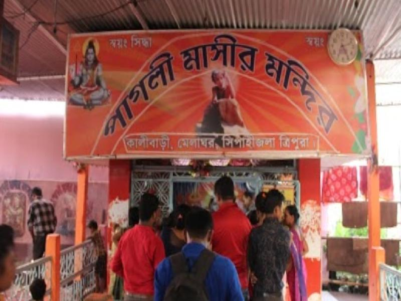 Tripura's-Pagli-Mashi-passes-away;-devotees-gather-at-Melaghar-in-large-numbers