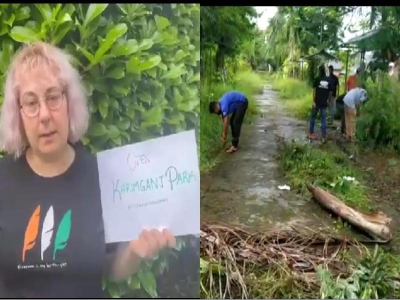 Campaign-for-reopening-of-Shambhusagar-Park-in-Karimganj-gathers-international-response,-woman-from-Bulgaria-shares-a-video-in-support