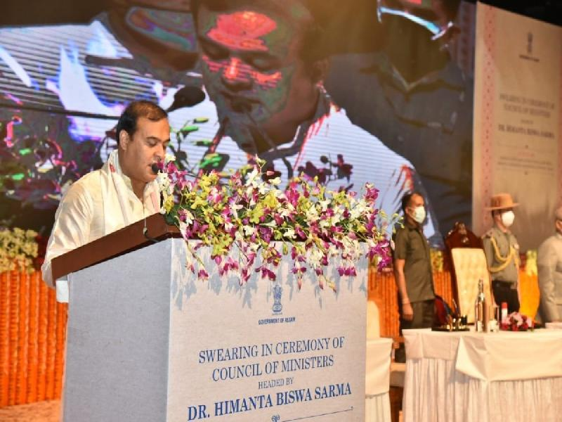 CM-Himanta-Biswa-Sarma-takes-oath-along-with-13-others
