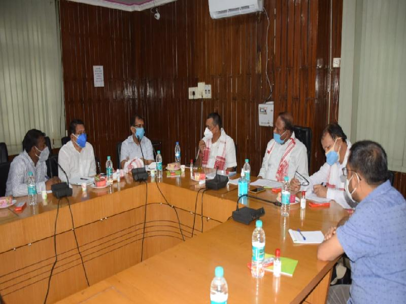 Parimal-Suklabaidya-chairs-review-meeting-of-Forest-Schemes-and-Projects-at-Cachar-DC's-Conference-Hall